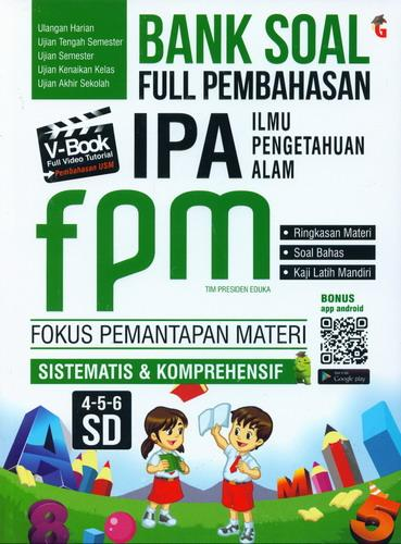 Cover Buku bank Soal Full Pembahasan IPA FPM SD 4-5-6