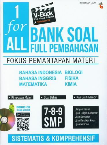 Cover Buku 1 for All Bank Soal Full Pembahasan SMP 7-8-9