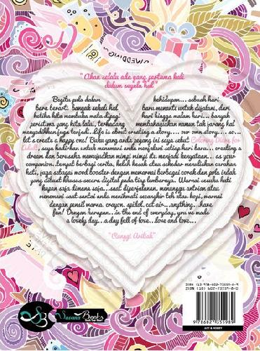 Cover Belakang Buku Coloring Diary For Adult : Love Is In The Air