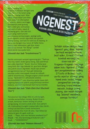 Cover Belakang Buku NGENEST 2 - Ngetawain Hidup Ala Ernest (Cover Film)