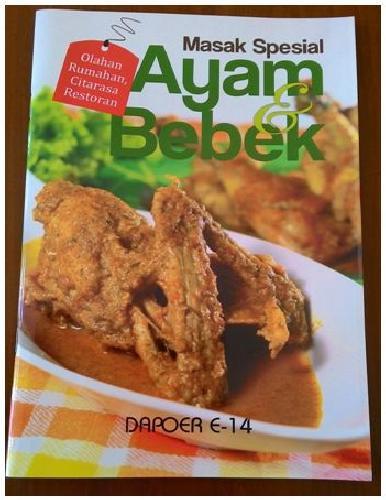 Cover Buku Masak Spesial Ayam dan Bebek