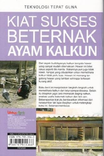 Cover Belakang Buku Kiat Sukses Beternak AYam Kalkun