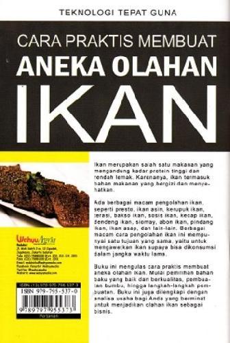Cover Belakang Buku Cara Praktis Membuat Aneka Olahan Ikan (Promo Best Book)