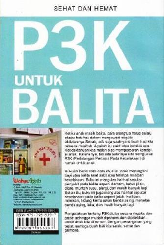 Cover Belakang Buku P3K Untuk Balita (Sehat dan Hemat) (Promo Best Book)