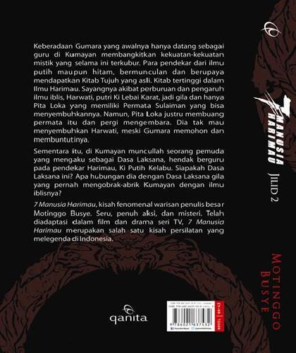 Cover Belakang Buku 7 Manusia Harimau Jilid 2 : Rahasia Kitab Tujuh