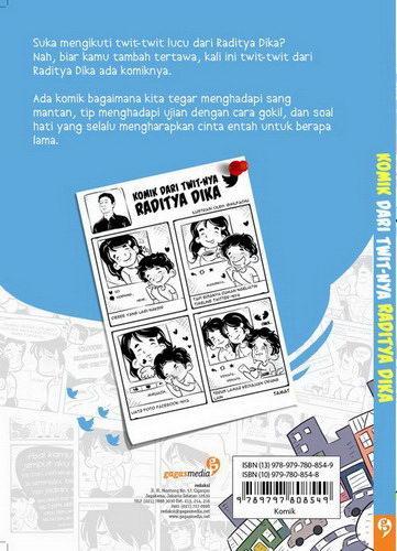 Cover Belakang Buku Komik Dari Twit-nya Raditya Dika (Disc 50%)