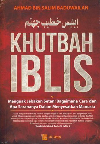 Cover Buku Khutbah Iblis