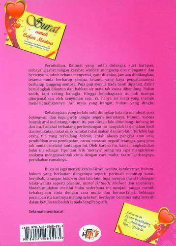 Cover Belakang Buku Surat Untuk Calon Mertua