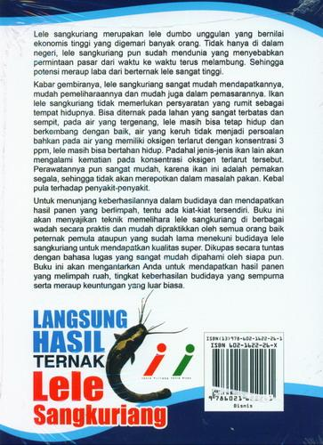 Cover Belakang Buku Langsung Hasil Ternak Lele Sangkuriang (Full Color)
