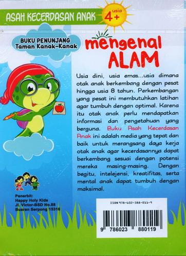 Cover Belakang Buku Mengenal Alam (Buku Penunjang Taman Kanak-Kanak)