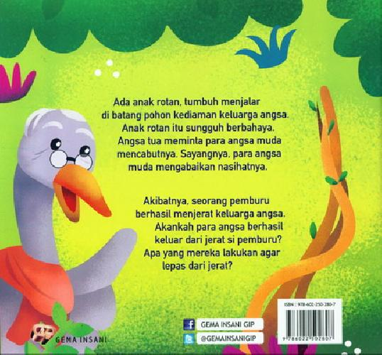 Cover Belakang Buku Seri Fabel Andung Ila : Nasihat Si Angsa Tua