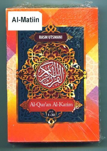Cover Buku Al-Matiin - Quran Utsmani SC B7 (Al-Quran Al-Karim)