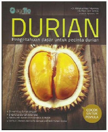 Cover Buku DURIAN : Pengetahuan Dasar Untuk Pecinta Durian