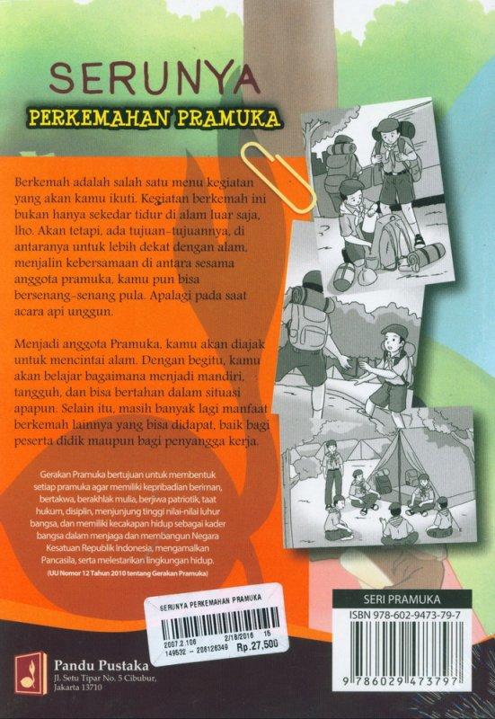 Cover Belakang Buku Serunya Perkemahan Pramuka