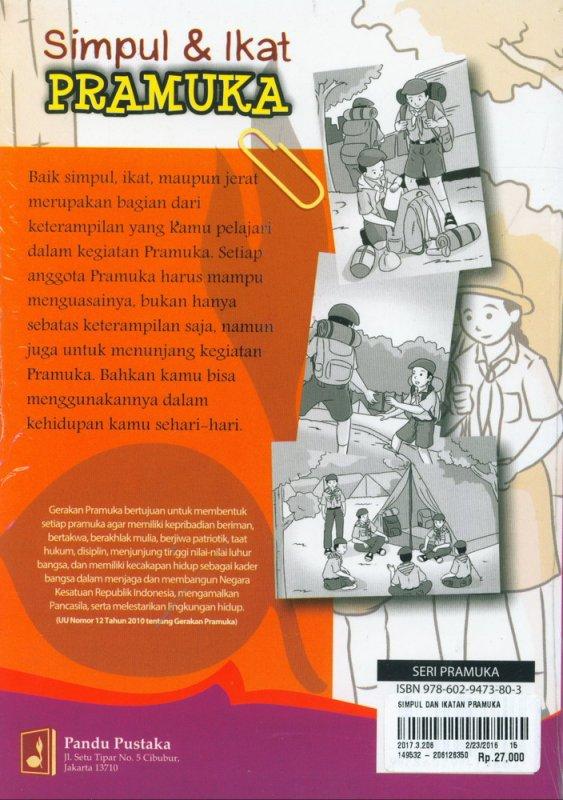 Cover Belakang Buku Simpul dan Ikatan Pramuka