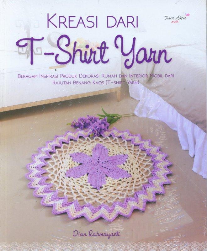 Cover Buku Kreasi dari T-Shirt Yarn