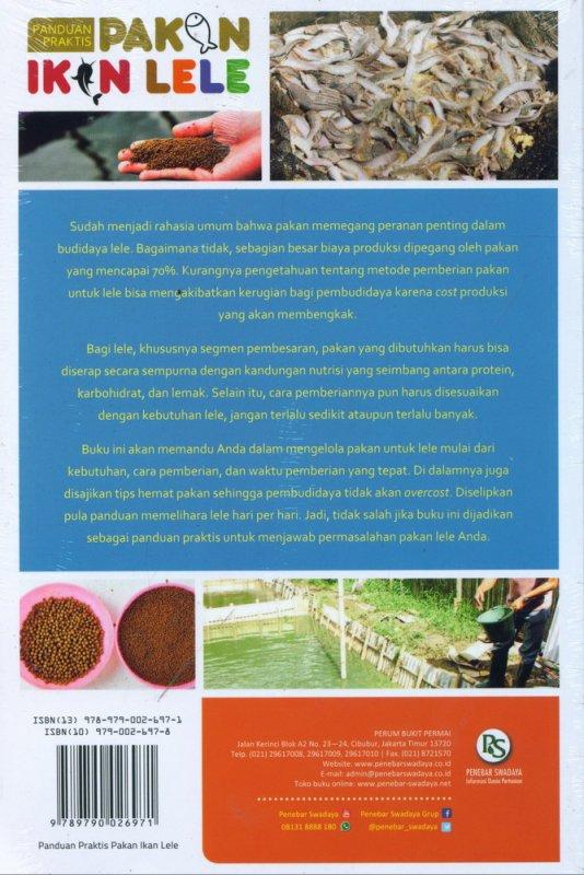 Cover Belakang Buku Panduan Praktis Pakan Ikan Lele