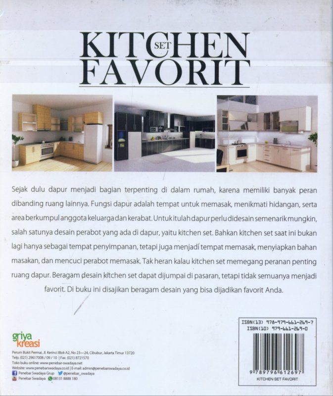 Cover Belakang Buku Kitchen Set Favorit
