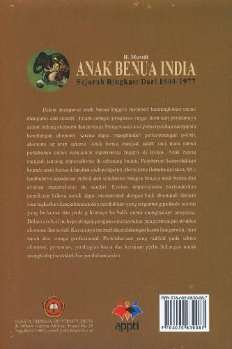 Cover Belakang Buku Anak Benua India Sejarah Ringkas Dari 1600-1977