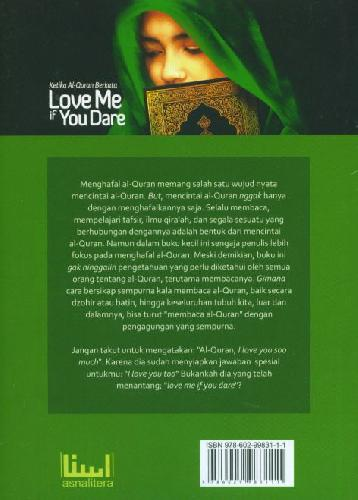 Cover Ketika Al-Quran Berkata Love Me if You Dare