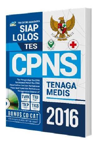 Cover Buku Siap Lolos Tes CPNS Tenaga Medis 2016