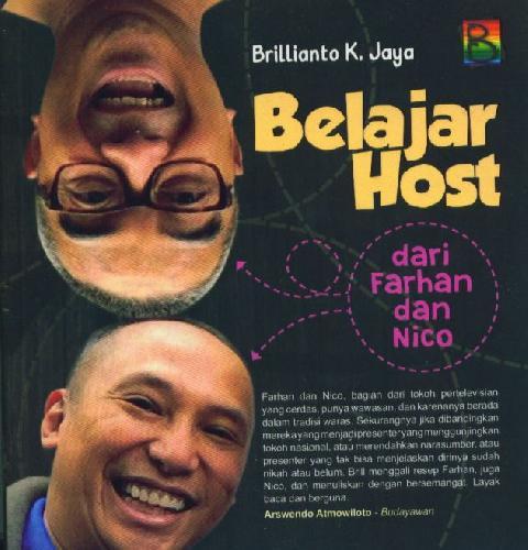 Cover Buku Belajar Host dari Farhan dan Nico