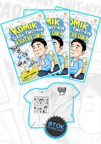Cover Buku Komik Dari Twit-nya Raditya Dika(paket buku+kaos+LED)