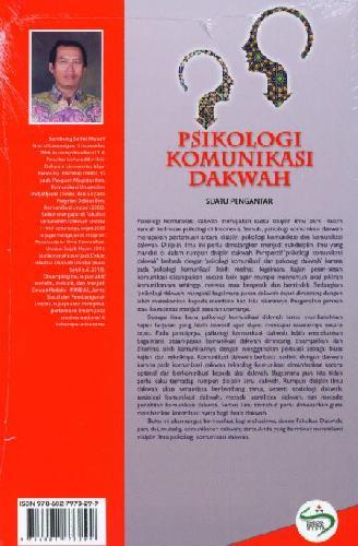 Cover Belakang Buku Psikologi Komunikasi Dakwah Suatu Pengantar