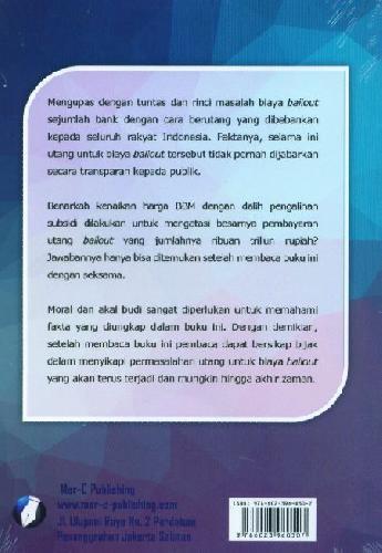 Cover Belakang Buku Bom Waktu Utang Bailout