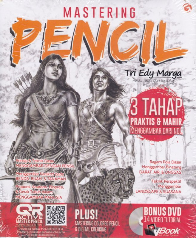 Cover Buku Mastering Pencil [PLUS DVD TUTORIAL]