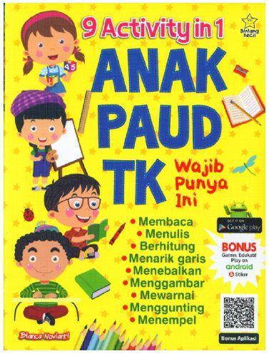 Cover Buku 9 Activity in 1 Anak Paud TK Wajid Punya Ini