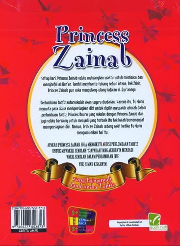 Cover Belakang Buku Princess Zainab yang Istiqamah dan Lomba Tahfiz