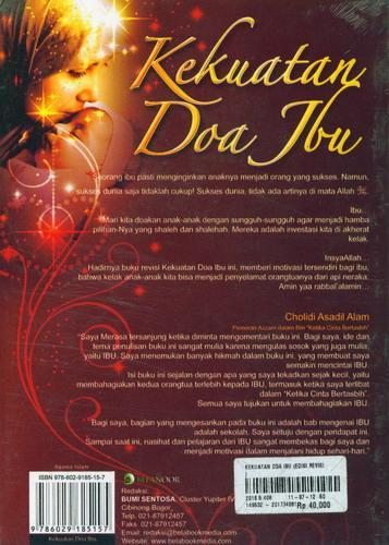 Cover Belakang Buku Kekuatan Doa Ibu Edisi Revisi