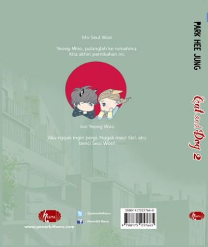 Cover Belakang Buku Cat and Dog #2