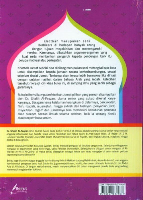 Cover Belakang Buku Khotbah Jumat Pilihan: 200 Tema Kotbah Jumat Variatif (Hard Cover)