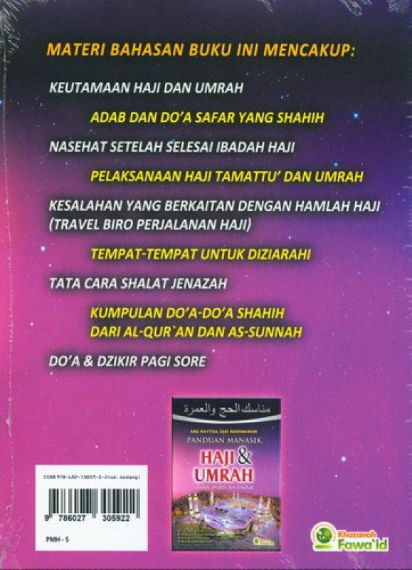 Cover Belakang Buku Panduan Manasik Haji dan Umrah shahih, praktis dan lengkap (Cover Baru)