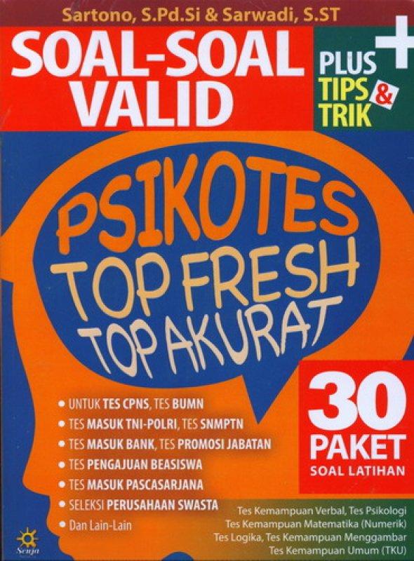 Cover Buku Soal-Soal Valid Psikotes Top Fresh Top Akurat
