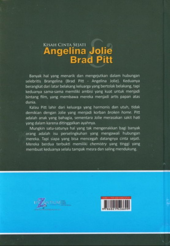 Cover Belakang Buku Kisah Cinta Sejati Angelina Jolie Brad Pitt