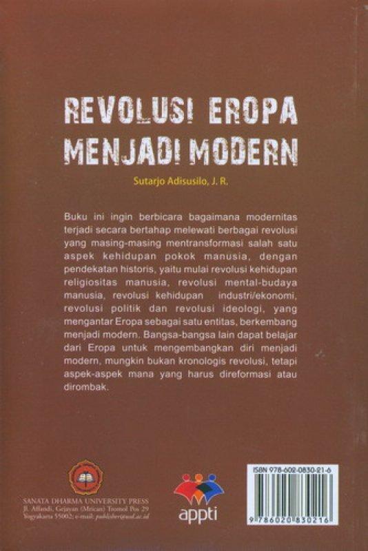Cover Belakang Buku Revolusi Eropa Menjadi Modern