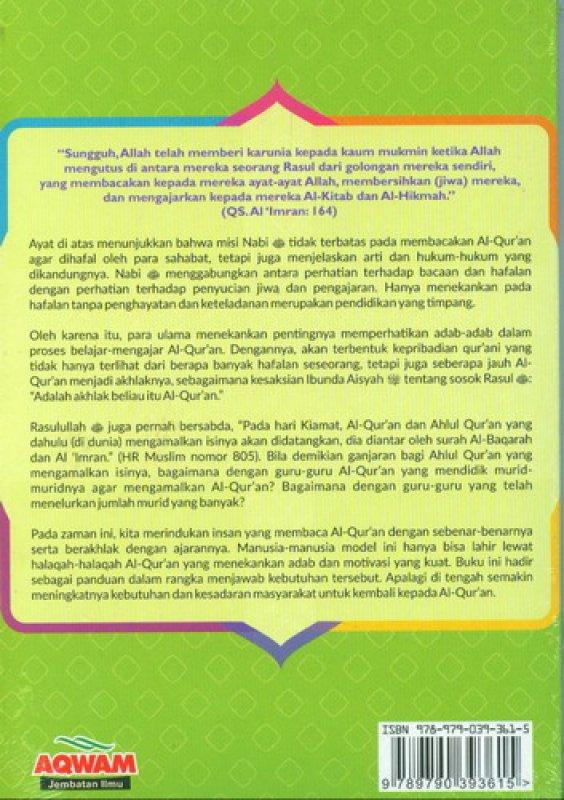 Cover Belakang Buku Adab-Adab Halaqah Al-Quran : Belajar dari Tradisi Ulama