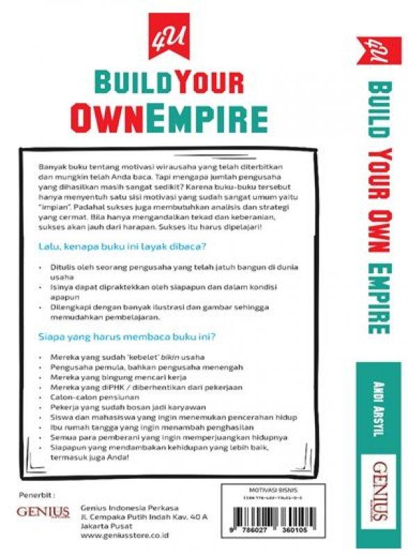 Cover Belakang Buku 4U Build Your Own Empire