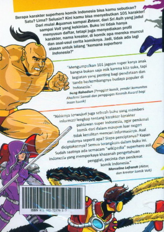 Cover 101 Karakter Superhero Komik Indonesia