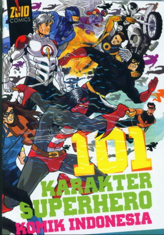 Cover Buku 101 Karakter Superhero Komik Indonesia
