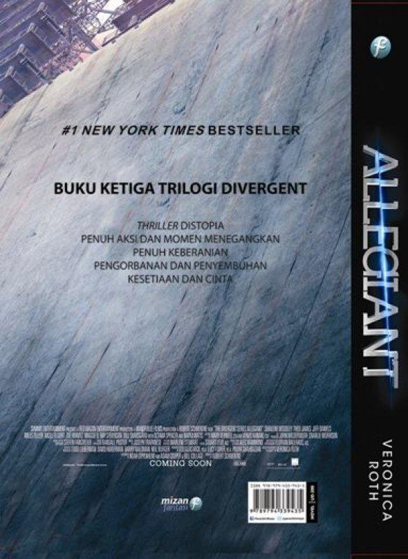 Cover Belakang Buku Allegiant Movie Tie-In