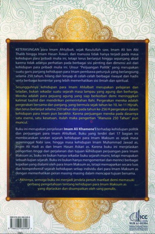 Cover Belakang Buku Manusia 250 Tahun