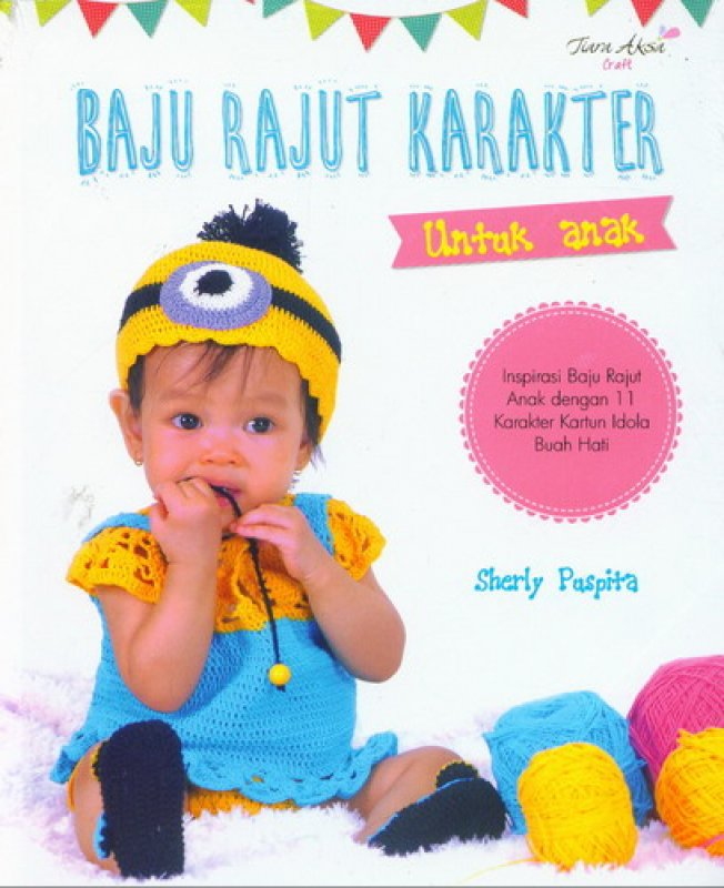 Cover Buku Baju Rajut Karakter Untuk Anak