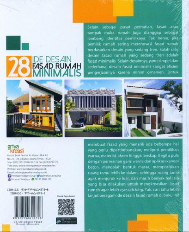 Cover Belakang Buku 28 Ide Desain Fasad Rumah Minimalis