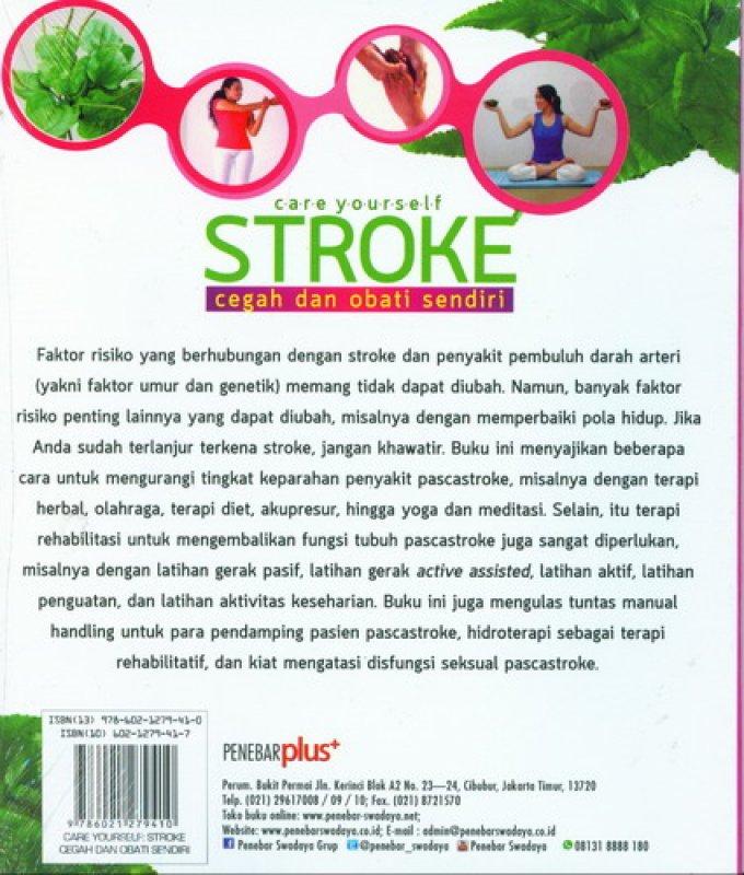 Cover Belakang Buku Stroke Cegah dan Obati Sendiri