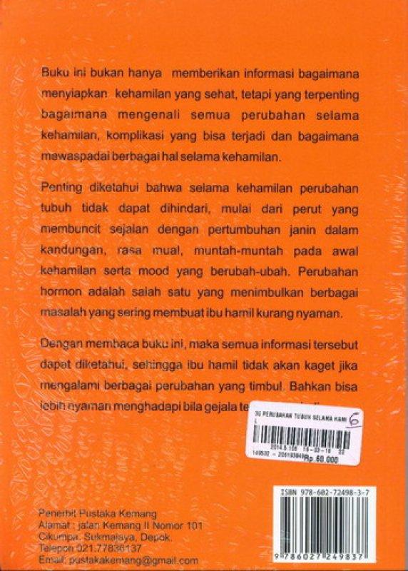 Cover Belakang Buku 30 Perubahan Tubuh Selama Hamil