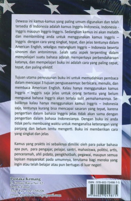 Cover New Edition Kamus Populer American Synonyms